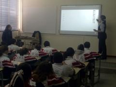 Pizarron interactivo en el aula